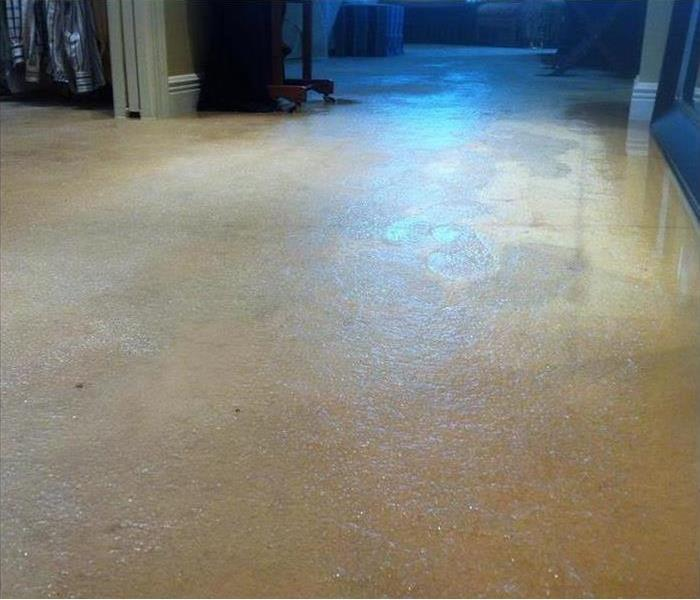 Flooding in an Oxnard Bedroom Suite Before