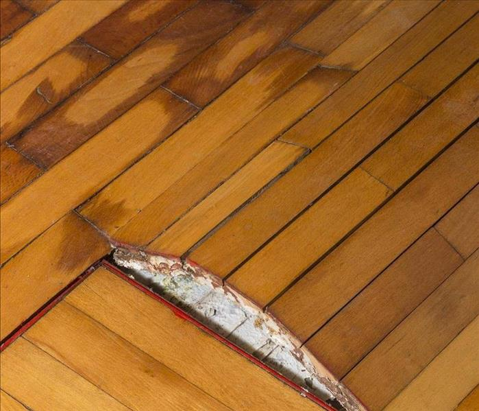 Water Damage Oxnard Area Wood Flooring Escapes Water Damage with a Swift SERVPRO Service