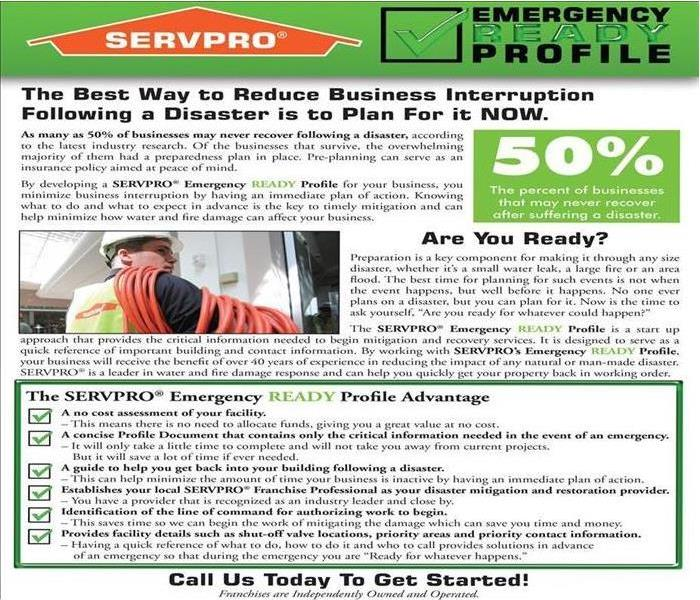 Commercial Prepare for Commercial Water Damage in Oxnard with The SERVPRO ERP Program