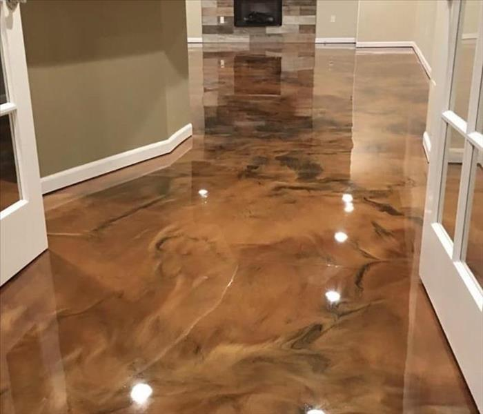 Custom stained concrete